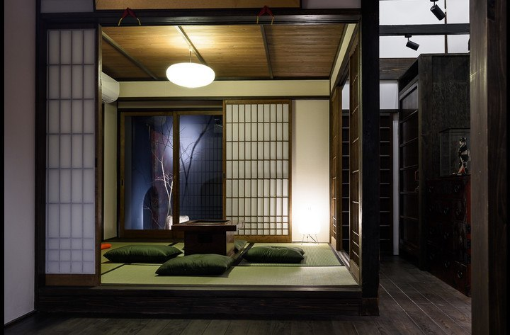 The Japanese living space with the Zen Garden view.