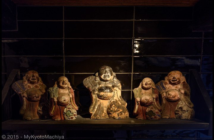 The  Hotei San  gods in the kitchen protect the house from fire
