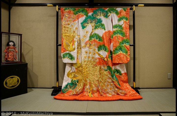 The old traditional wedding kimono