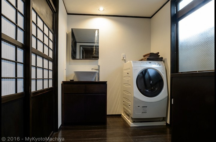 The fully automatic washer/dryer is very convenient for travelers